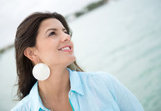 Thoughtful woman portrait Stock Images