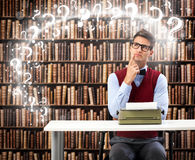 Thoughtful writer Stock Images