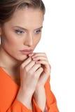 Thoughtful youg woman Stock Image