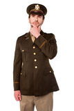 Thoughtful young army officer Royalty Free Stock Photography