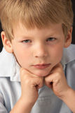 Thoughtful Young Boy Royalty Free Stock Photos