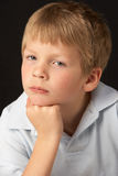Thoughtful Young Boy Stock Images