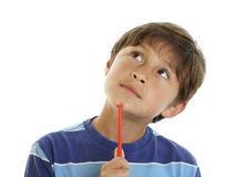 Thoughtful young boy Royalty Free Stock Photography