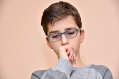 Thoughtful young boy Stock Photography
