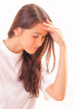 Thoughtful young brunette woman Royalty Free Stock Photo