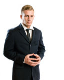 Thoughtful young businessman. Royalty Free Stock Image