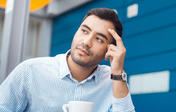 Thoughtful young businessman Stock Photos