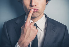 Thoughtful young businessman Stock Photography