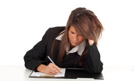 Thoughtful young businesswoman Royalty Free Stock Image
