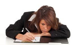 Thoughtful young businesswoman Stock Photography