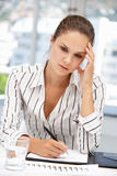 Thoughtful young businesswoman Royalty Free Stock Photography