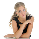 The thoughtful young girl . Stock Photography