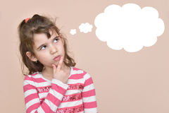 Thoughtful young girl Stock Photography