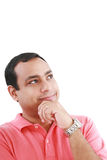 Thoughtful young guy standing looking away Royalty Free Stock Photography
