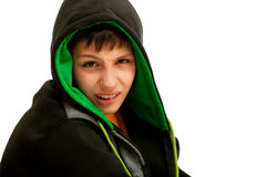 Thoughtful young hip-hop dancer Stock Photography