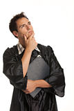 Thoughtful Young Male College Graduate Royalty Free Stock Image