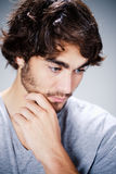 Thoughtful young man Stock Photography