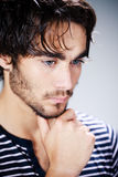 Thoughtful young man Royalty Free Stock Photo