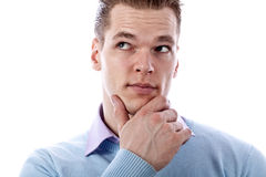 Thoughtful young man Royalty Free Stock Photos
