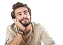 Thoughtful young man Royalty Free Stock Image