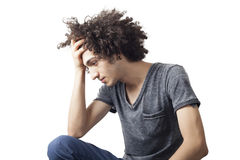 Thoughtful young man Royalty Free Stock Images