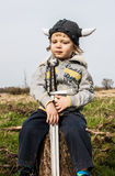 Thoughtful young viking Royalty Free Stock Photo