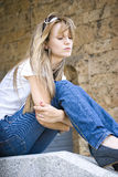 thoughtful young woman Royalty Free Stock Photo