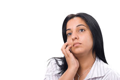Thoughtful young woman Royalty Free Stock Image