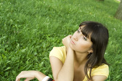 Thoughtful Young Woman Royalty Free Stock Photos