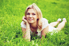 Thoughtful young woman Stock Images