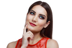 Thoughtful young woman Royalty Free Stock Images