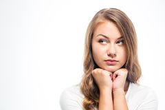 Thoughtful young woman looking away Royalty Free Stock Image