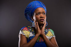Thoughtful zulu woman Stock Photography