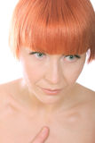 Thoughtfull redhead Stock Photography