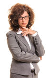 Thoughtfully business woman Royalty Free Stock Images