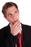 Thoughtfully employee Royalty Free Stock Image