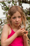 Thoughtfully girl Stock Images
