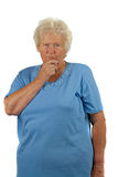Thoughtfully senior woman Royalty Free Stock Photo