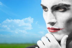 Thoughts of the clown Royalty Free Stock Photos