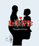 Thoughts of love couple Royalty Free Stock Photography