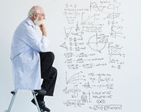 Thoughts of scientist stock photography