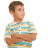 Thoughytful boy Stock Photo