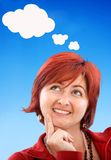 Thougthful woman Royalty Free Stock Images
