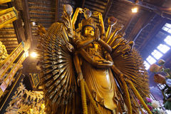 Thousand arms god statue Royalty Free Stock Photo