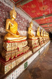 A thousand Buddhas, Bangkok Royalty Free Stock Photos