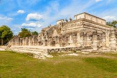 Thousand columns mayan temple complex, Chichen Itza archaeologic. Al site, Yucatan, Mexico Stock Photography