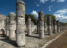 Thousand columns temple in Chichen Itza. Stock Photography