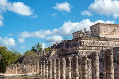 Thousand Columns and Temple of the Warriors Stock Photography
