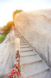 Thousand feet cliff at mount hua Stock Images