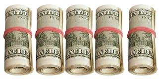 Thousand-five rolls of bills Royalty Free Stock Photo